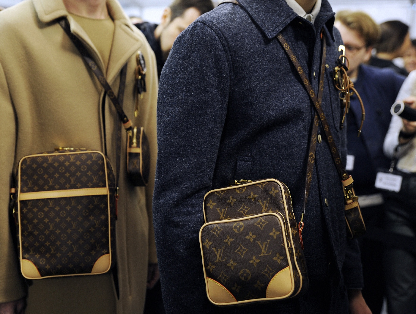 Backstage at the Louis Vuitton Menswear Fall Winter 2015 Show 22