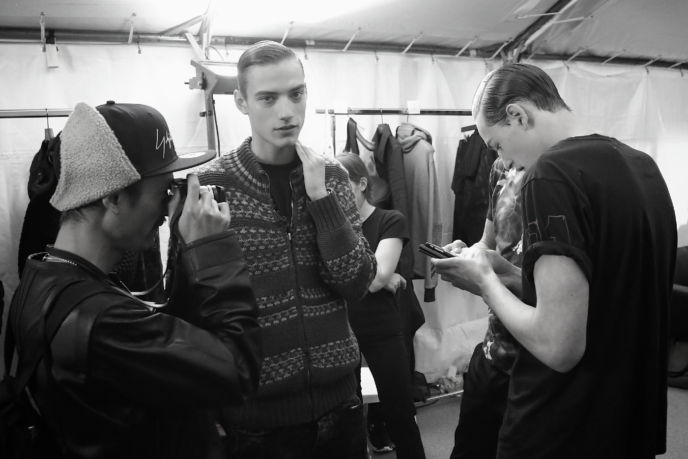 Backstage at the Y-3 Fall 2015 Show 9
