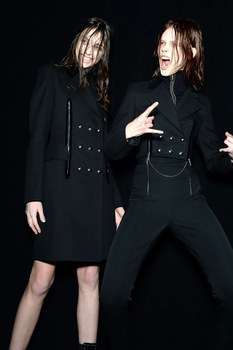 Backstage at the Alexander Wang Fall Winter 2015 Show 2