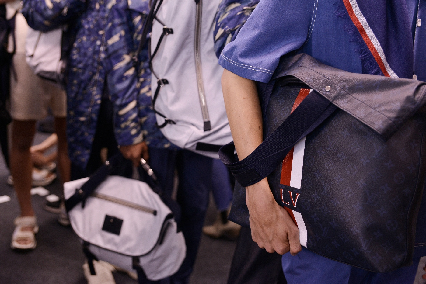 Backstage at the Louis Vuitton Menswear Spring Summer 2016 Show 2
