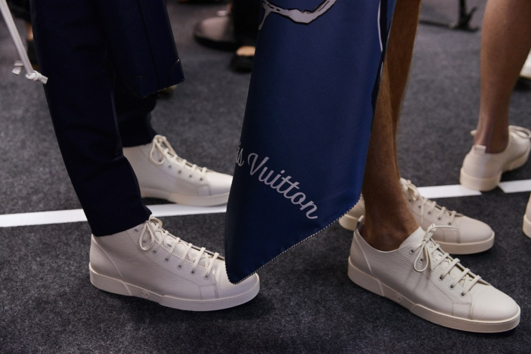Backstage at the Louis Vuitton Menswear Spring Summer 2016 Show 41