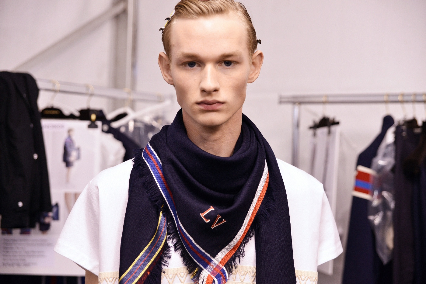 Backstage at the Louis Vuitton Menswear Spring Summer 2016 Show 6