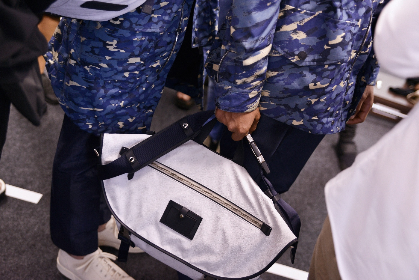 Backstage at the Louis Vuitton Menswear Spring Summer 2016 Show 8