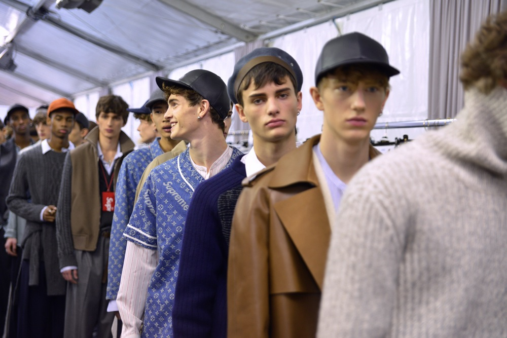 Backstage at Louis Vuitton x Supreme Fall Winter 2017 Show 50