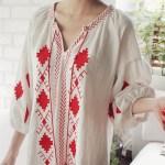 エスニック刺繍ポイントワンピース。韓国の安可愛いカジュアルファッション通販mayblue(メイブルー)2017春夏の人気アイテム