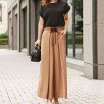コルセットディテールワイドパンツ。大人の上品でキレイめファッションSTYLEDELI(スタイルデリ)2017秋冬のトレンドアイテム
