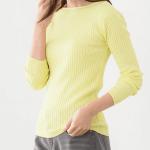20代女性に人気の大人可愛いファッション通販。 春のコーデ2021 【選べるネック綿混リブニット】