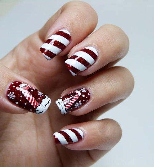 Christmas Candy Nail Art Try