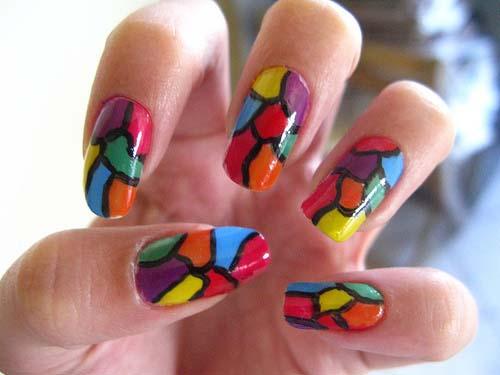 Awesome Pink Nail Art Design