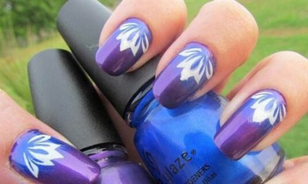 Free Hand Easy To Do Stained Gl Nail Art