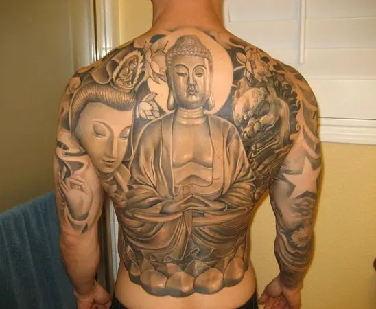 Full Body Meditation Buddha Tattoo Designs
