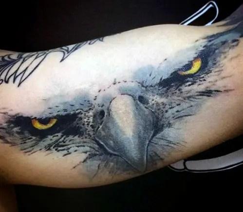 Powerful Eagle Eye Tattoo Design