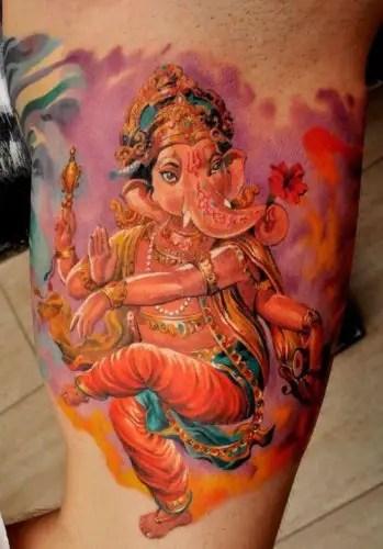 Dancing Sleeve Ganesha Tattoos
