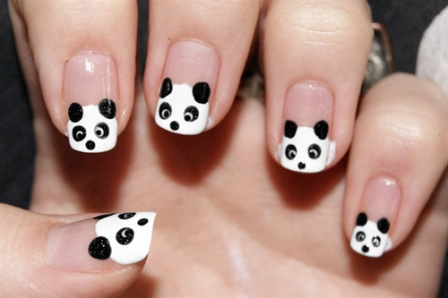 It S Very Easy To Create Panda Nails Using Dotting Tools If You Are Just As Lazy The Animal Or At Least People Think That