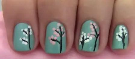 Sponged up Cherry Blossom Free Hand