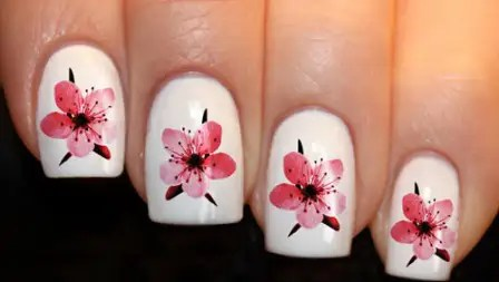 Water Decal Cherry Blossom Design