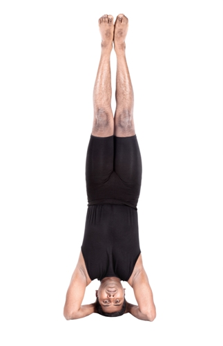 Yoga headstand pose