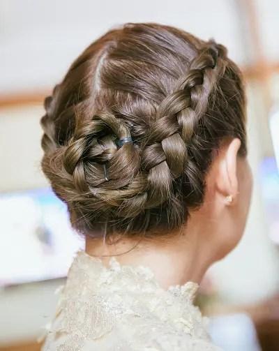 Chinese hairstyles - braided bun hair