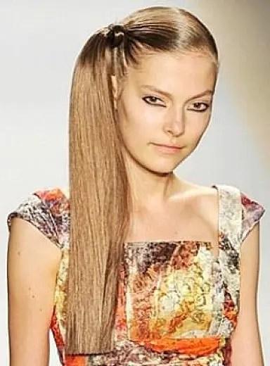 side cut ponytail