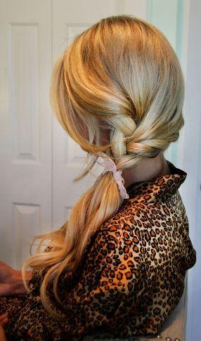 slick side braid ponytail