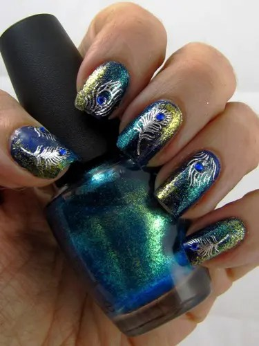 Beautiful Peacock Nail Art Designs 5