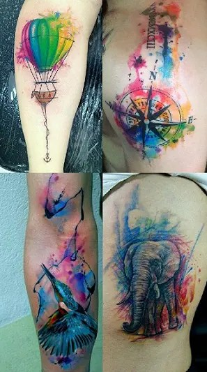 Colorful Tattoo Designs