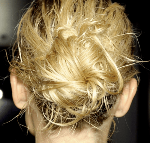 Tight Waves Crunched-Up Bun