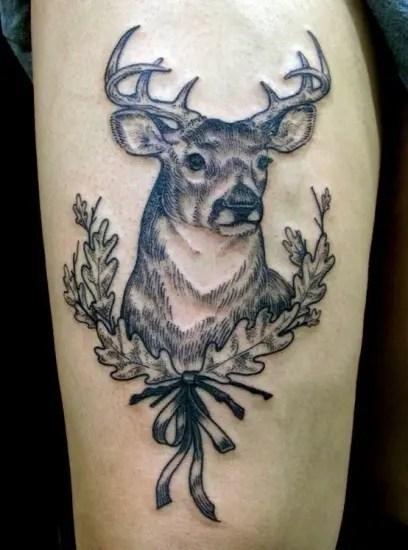 Illustration StyleDeer Tattoo Design