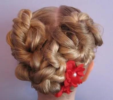 Heart Updo Flower Girl Hairdos