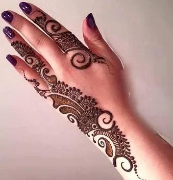 Arabic Back Hand Mehndi Design