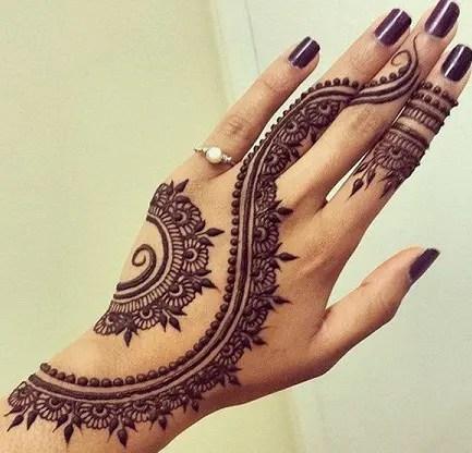 Tattoo Style Back Hand Mehndi