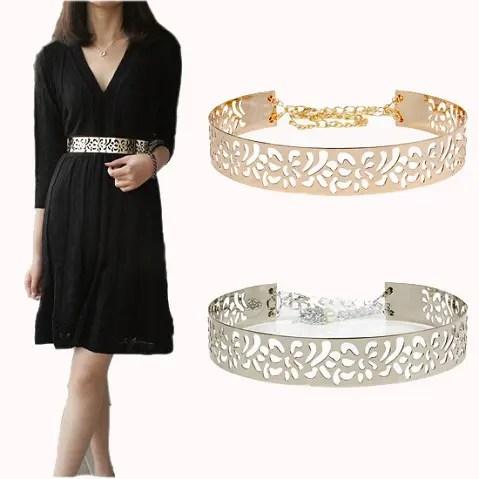 Women Gold Metal Waist Belt