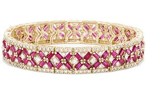 15 Different Types Of Stone Bangles In Gold And Diamond
