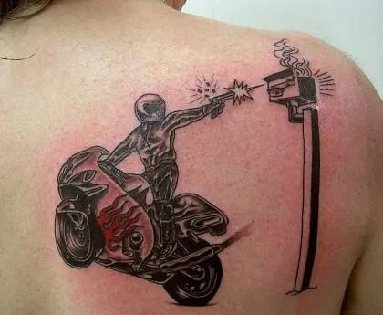 Daring Biker Tattoo Designs