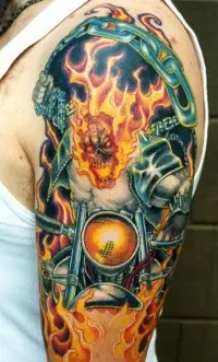 Rocking Biker Tattoos Design
