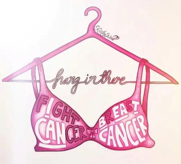 Sensational Breast Cancer Tattoo Design