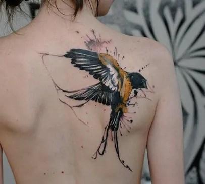 Swallow type sailor tattoo