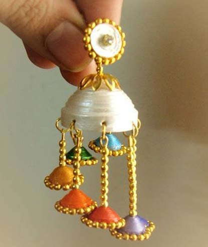 15 Best Quilling Earrings Jhumkas New Designs Styles At Life