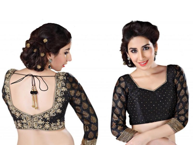 20 Beautiful Black Blouse Designs That Will Stole Your Heart