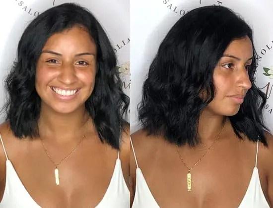 short bobblack wavy hair