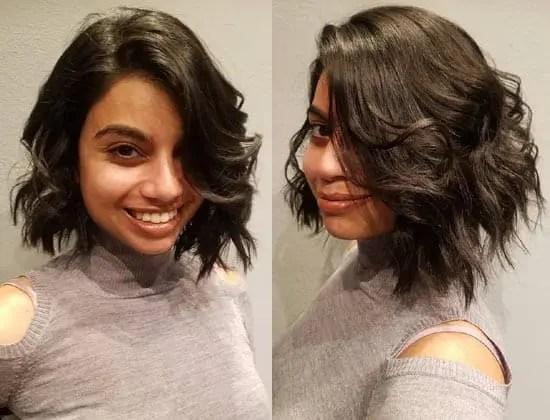 Layered Black Bob Hairstyle