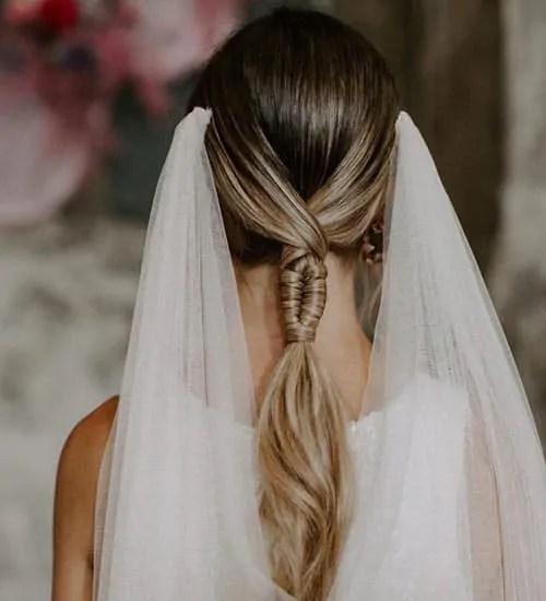 low ponytail wedding hair