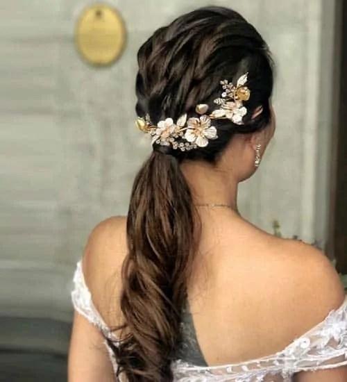 long hair low ponytail