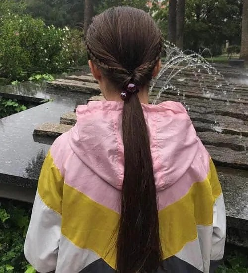 long low braided ponytail
