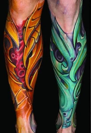 Bio Organic Tattoo Designs 6