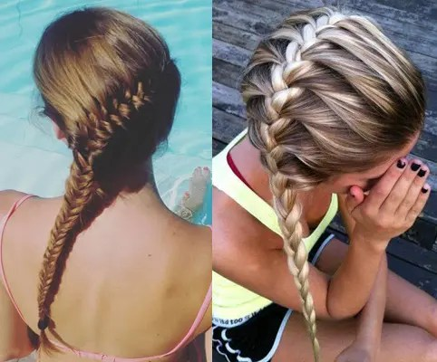 easy hair style girl for college