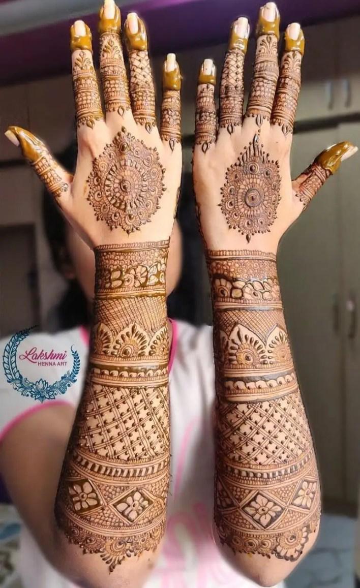 Bridal Back Hand Mehndi Design