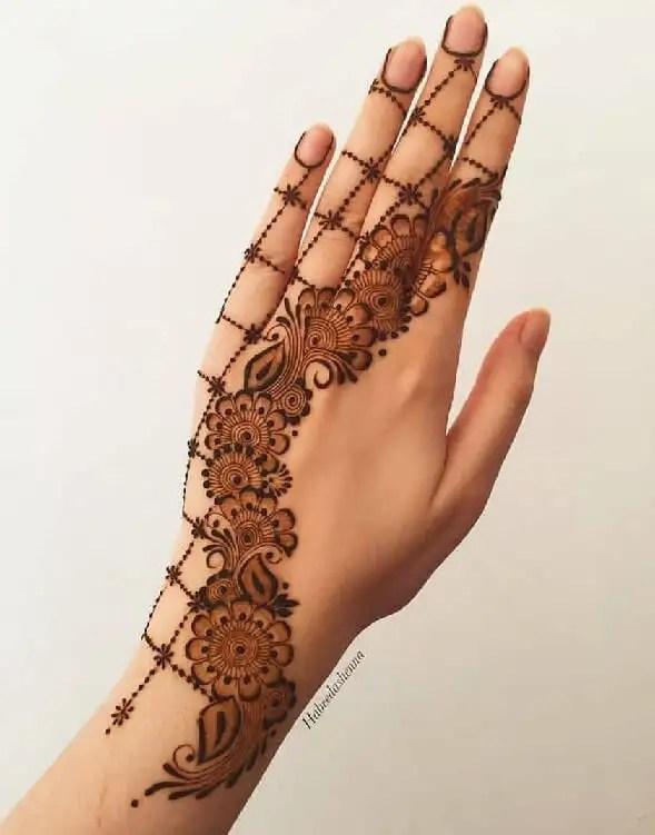 Arabic Back Hand Mehndi Designs