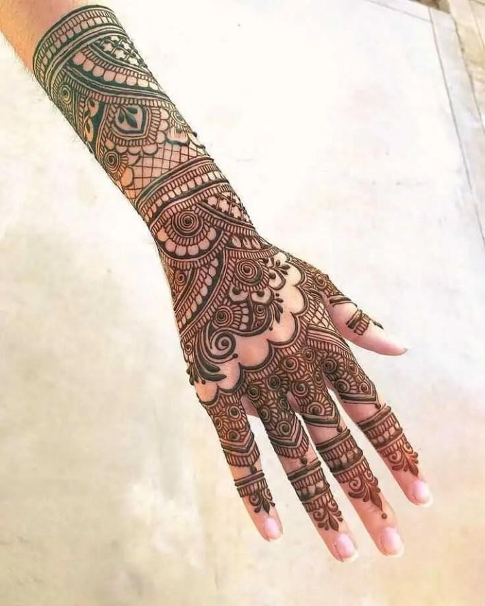 Rajasthani Back Hand Mehendi Design