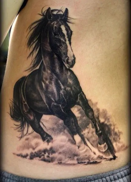 Horse Racing Tattoos Designs